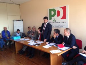 La conferenza stampa di presentazione della proposta di legge nell'ottobre 2015
